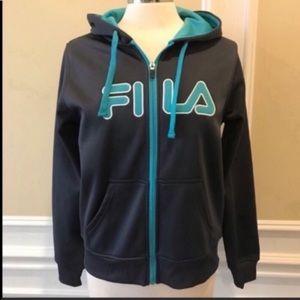 Fila fleece lined zip up hoodie S